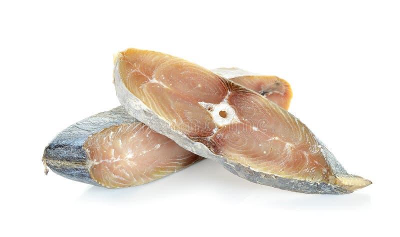 Кусок при рыбы соли изолированные на белой предпосылке стоковое фото