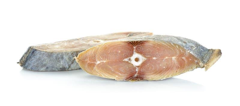 Кусок при рыбы соли изолированные на белой предпосылке стоковые фотографии rf