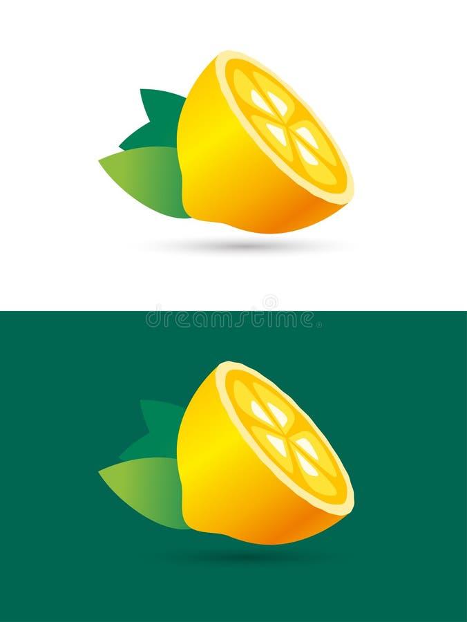 Кусок плодоовощ известки или лимона Логотип сока лимонада иллюстрация штока