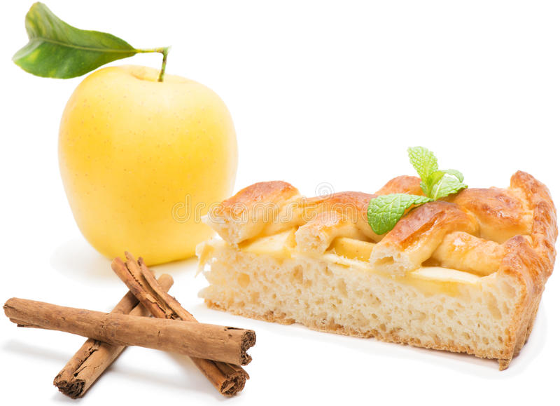 Кусок яблочного пирога стоковое изображение