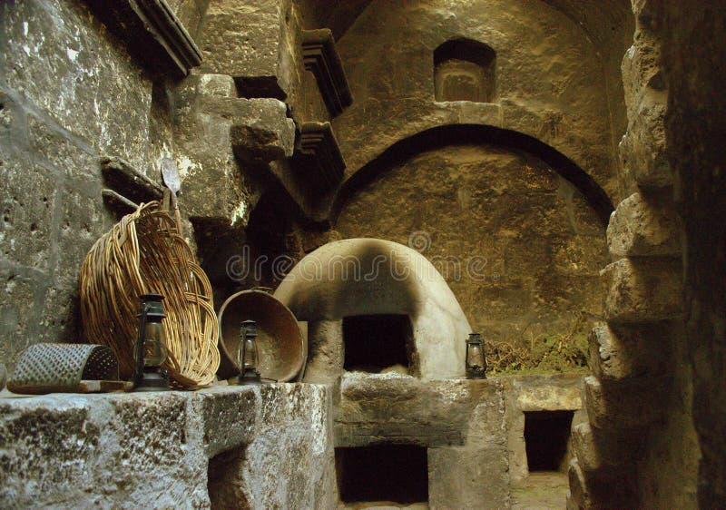 Кухня в монастыре Санты Каталины в Arequipa стоковое изображение rf