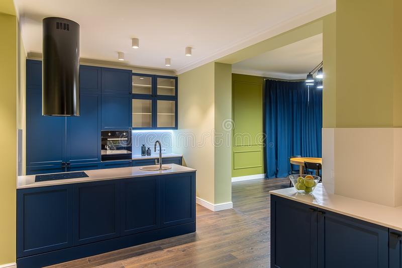 Кухня в современном стиле стоковые фотографии rf
