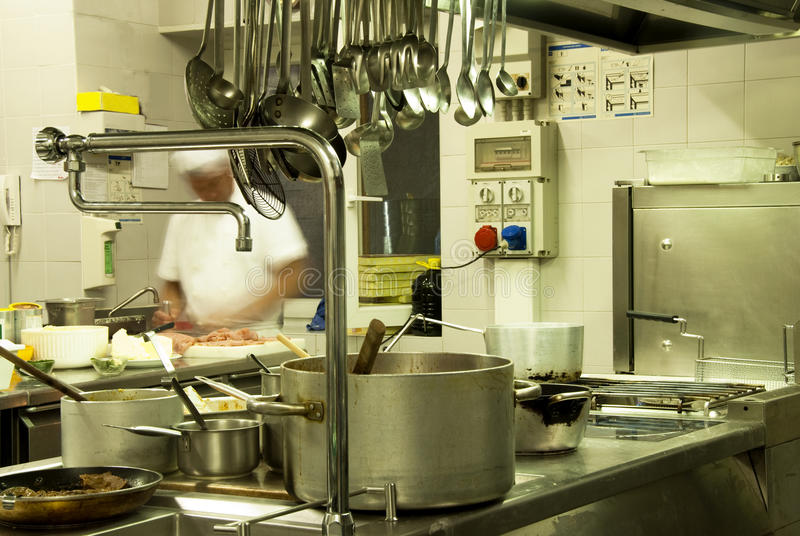 кухня гостиницы стоковая фотография rf