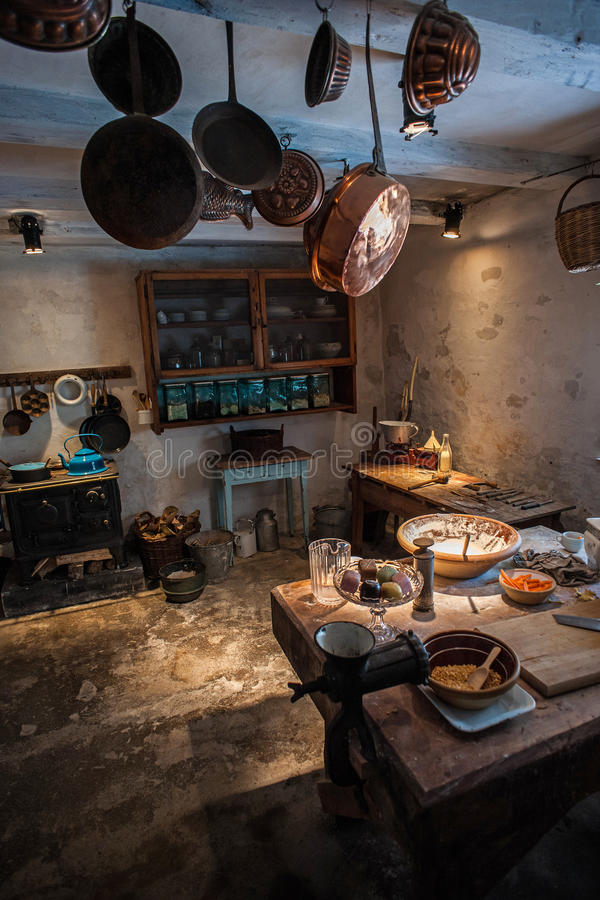 Кухня года сбора винограда старого стиля стоковая фотография rf