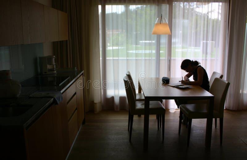 кухня девушки Стоковые Фото