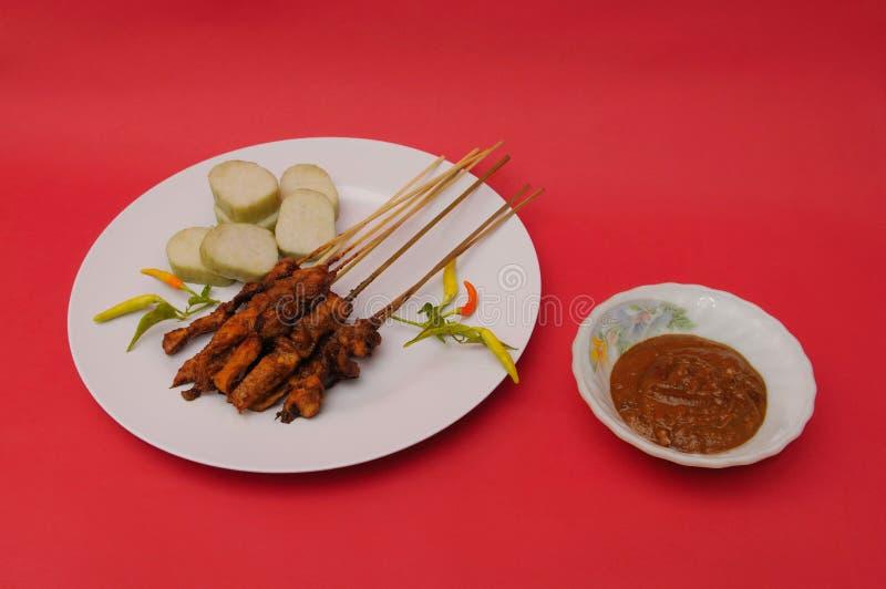 Кухня индонезийца Satay цыпленка стоковые изображения rf