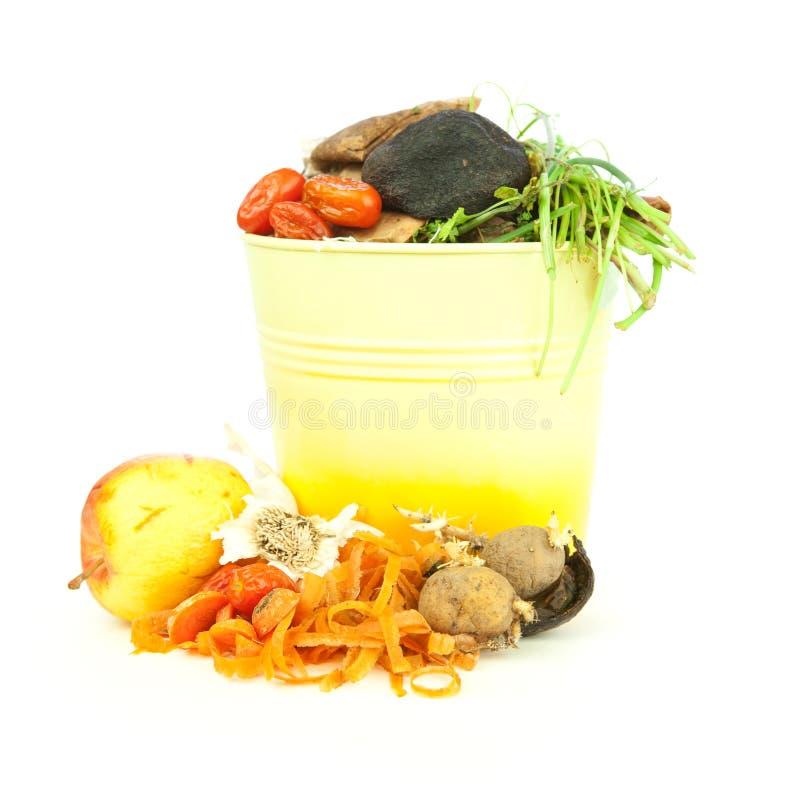 кухня компоста ведра стоковое изображение rf