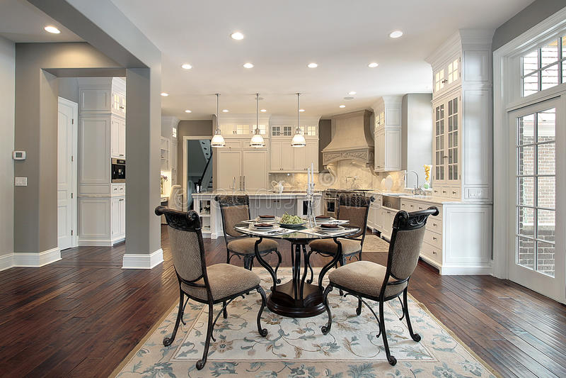 кухня конструкции домашняя новая стоковые фотографии rf