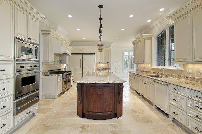 кухня конструкции домашняя новая стоковые изображения rf