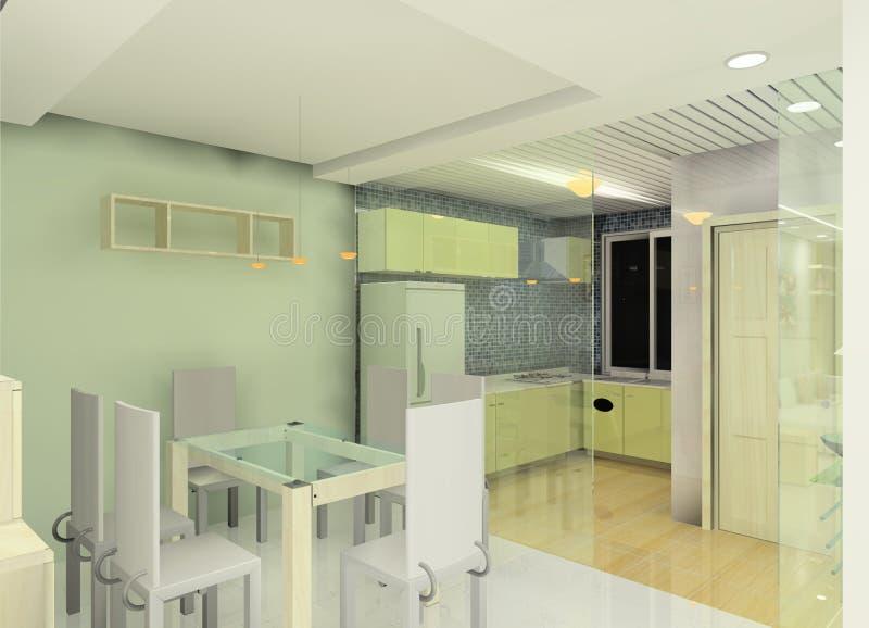 кухня конструкции иллюстрация вектора
