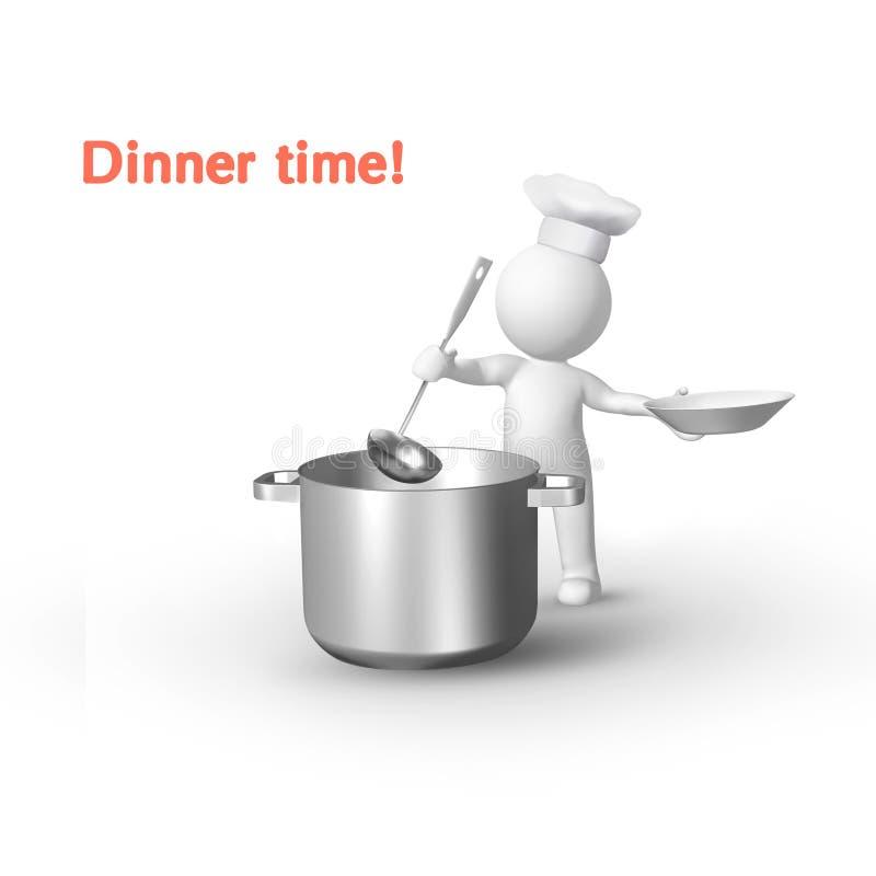 кухня мальчика бесплатная иллюстрация