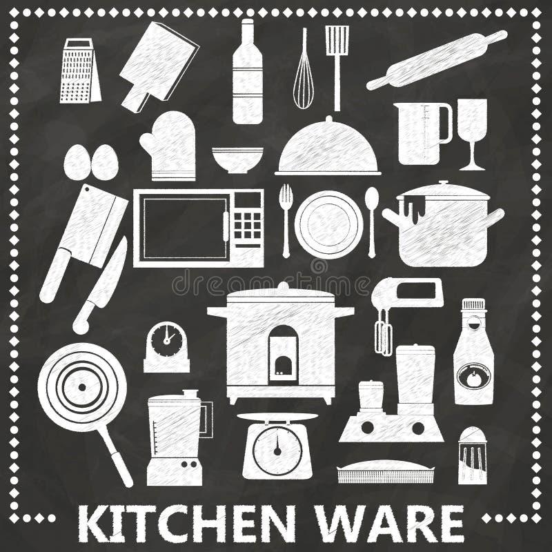 Кухня мелом иллюстрация вектора