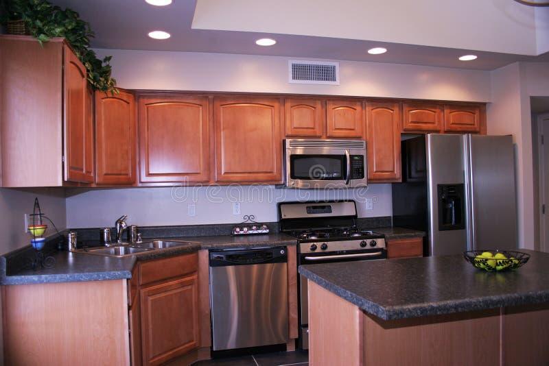 кухня самомоднейшая remodel стоковая фотография