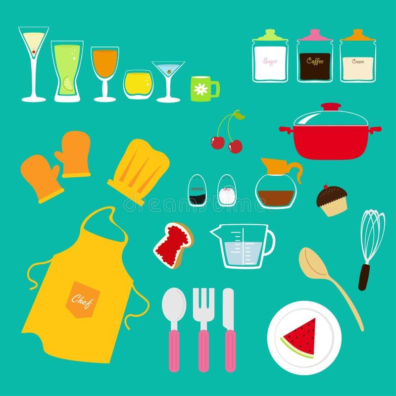 кухня собрания иллюстрация вектора