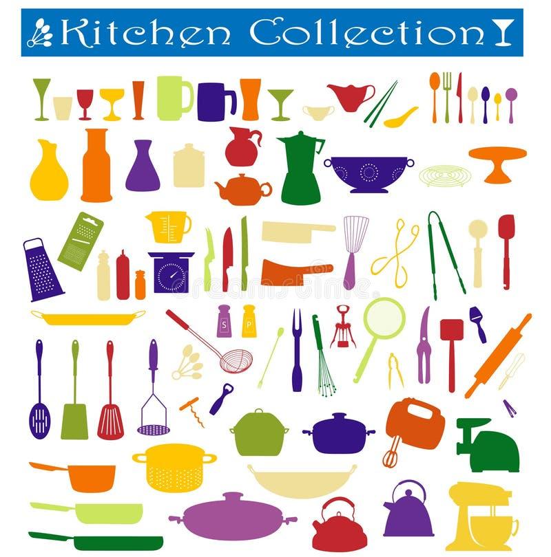 кухня собрания иллюстрация штока