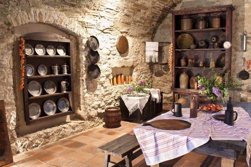 кухня старая стоковое фото