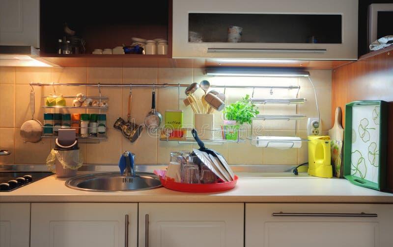 кухня стола стоковая фотография rf