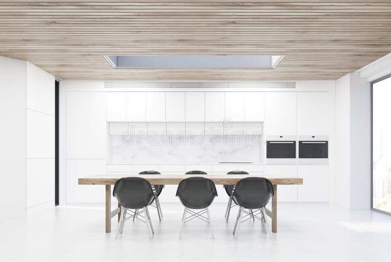Кухня с длинной таблицей бесплатная иллюстрация