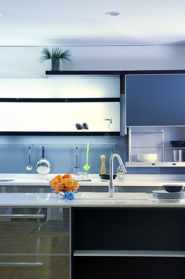 кухня 02 конструкций самомоднейшая стоковое изображение rf