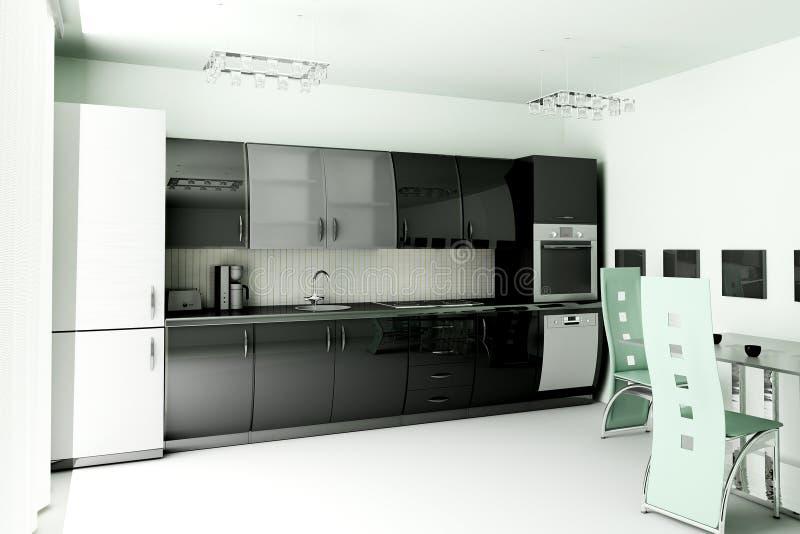кухня 3d представляет иллюстрация штока