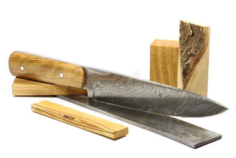 Кухонный нож 07 Дамаска стоковое изображение