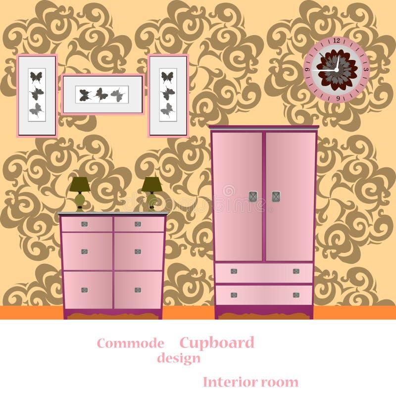 Кухонный шкаф и Commode бесплатная иллюстрация