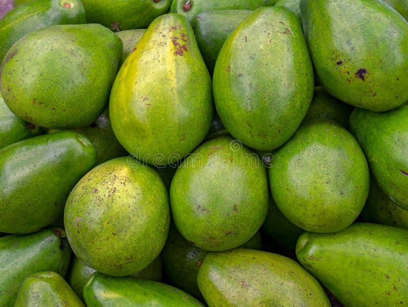 Куча авокадоов в рынке стоковые фото