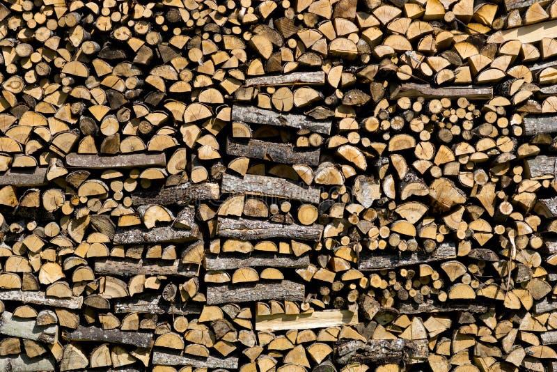 Куча березовой древесины стоковое фото rf