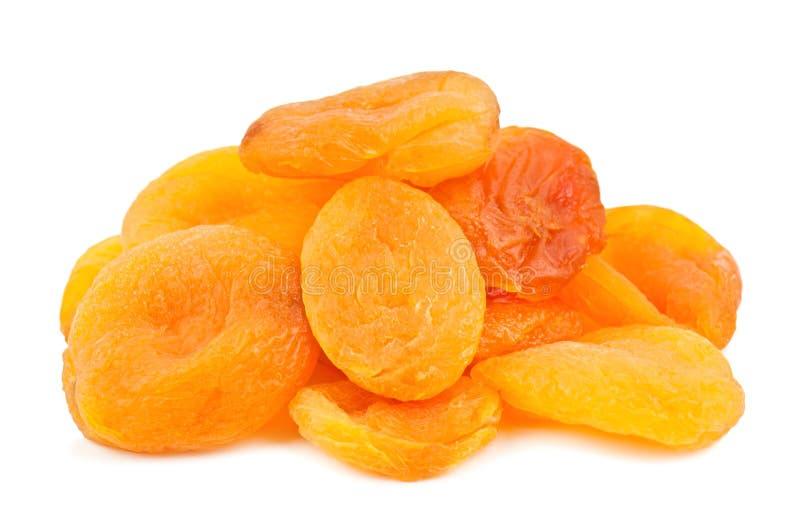 Куча высушенных абрикосов стоковые изображения