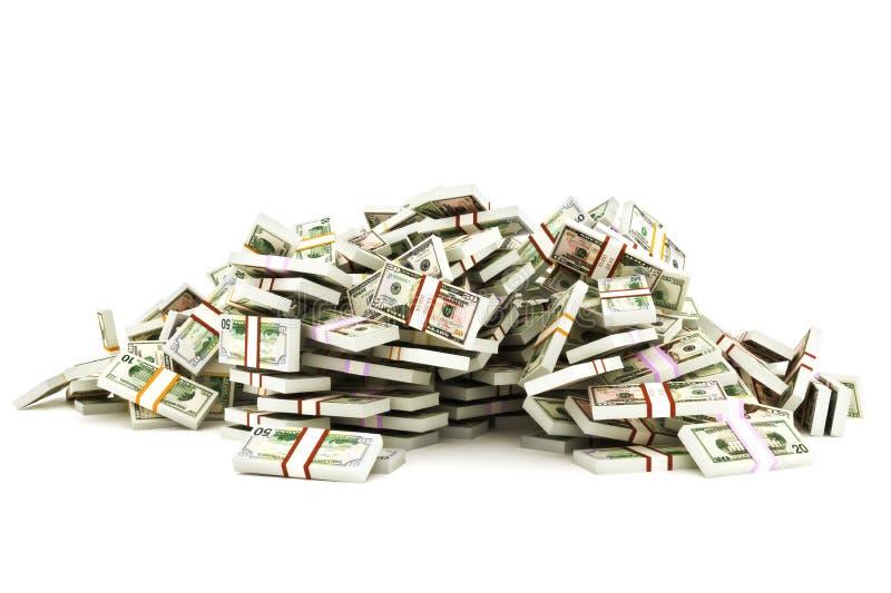 Куча денег стоковые фотографии rf