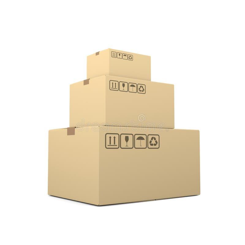 Куча закрытых картонных коробок бесплатная иллюстрация