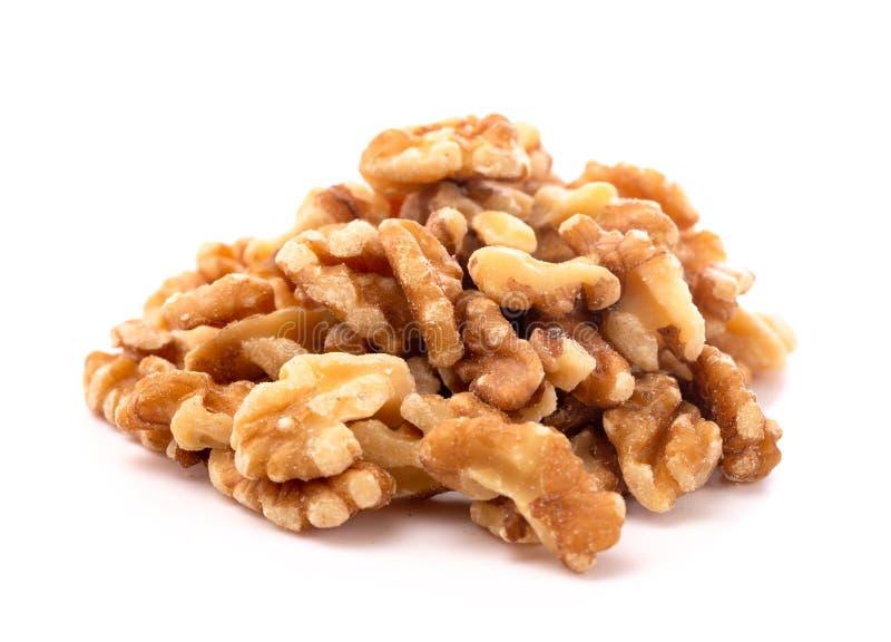 Куча здоровых грецких орехов на белой предпосылке стоковое изображение rf