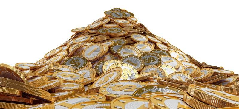 Download Куча золотых монеток иллюстрация штока. иллюстрации насчитывающей знак - 37926905