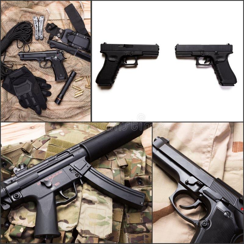 Куча личных огнестрельных оружий стоковые фото