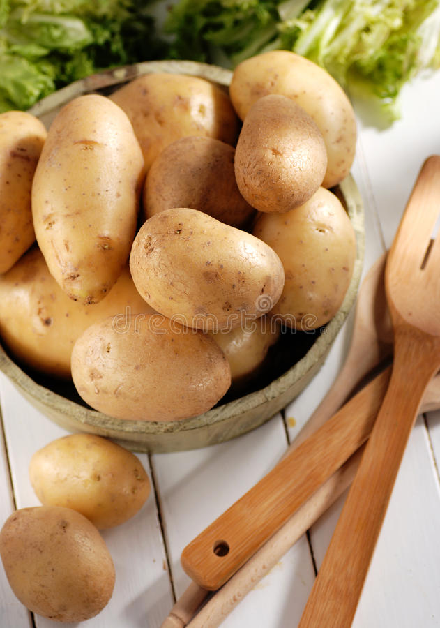 Куча картошек стоковое фото