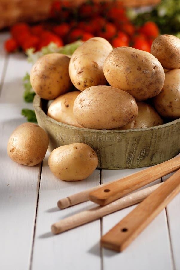 Куча картошек стоковые фото