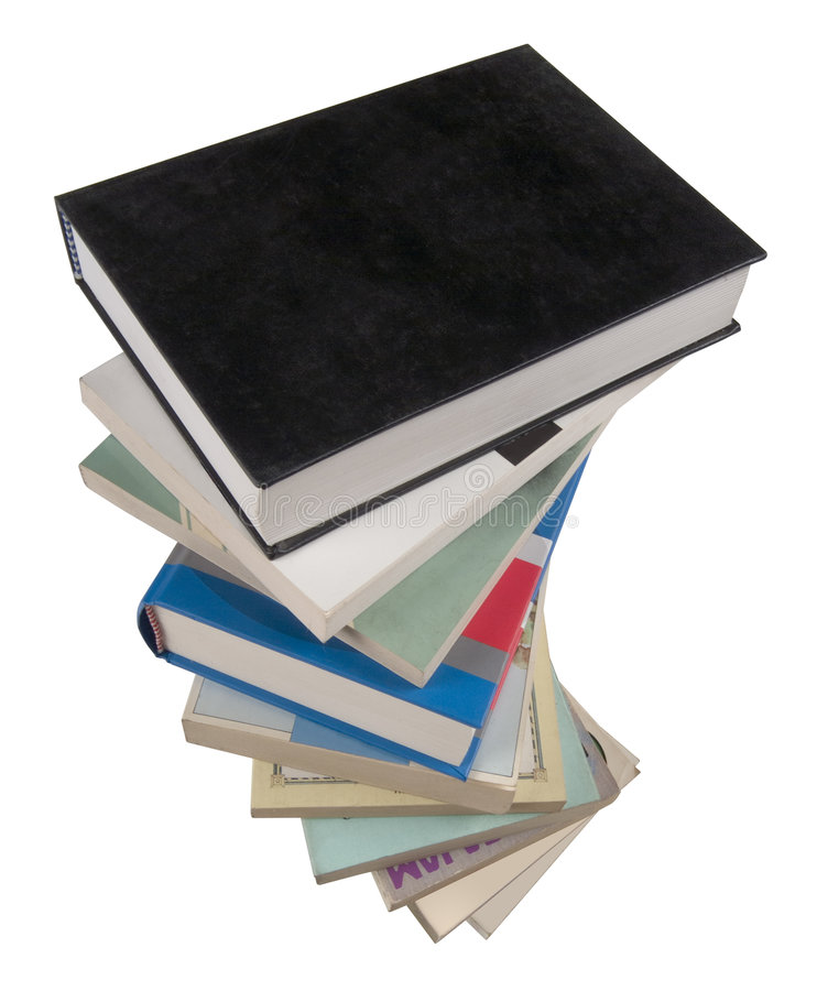 куча книг стоковые изображения rf