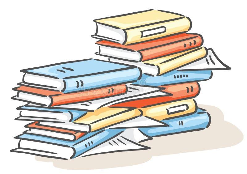 Куча книг иллюстрация вектора