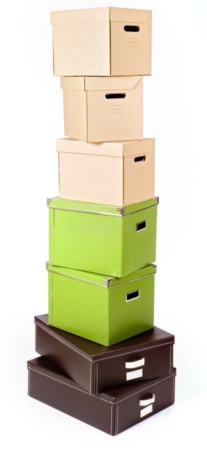 Download куча коробок стоковое фото. изображение насчитывающей гофрировано - 6865444