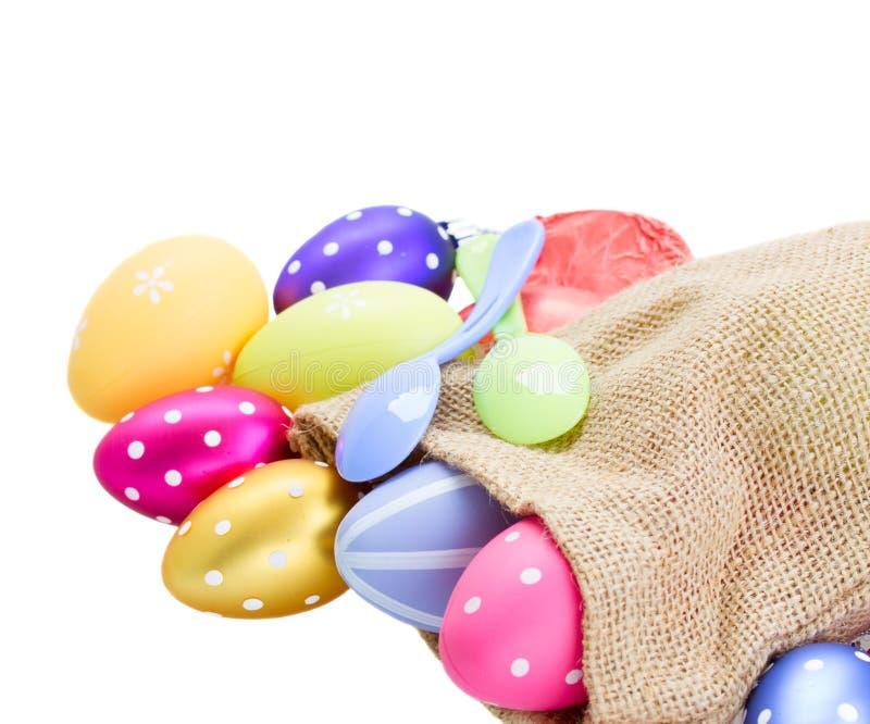 Download Куча красочных пасхальных яя в мешке Стоковое Изображение - изображение насчитывающей пасха, backhoe: 37930113
