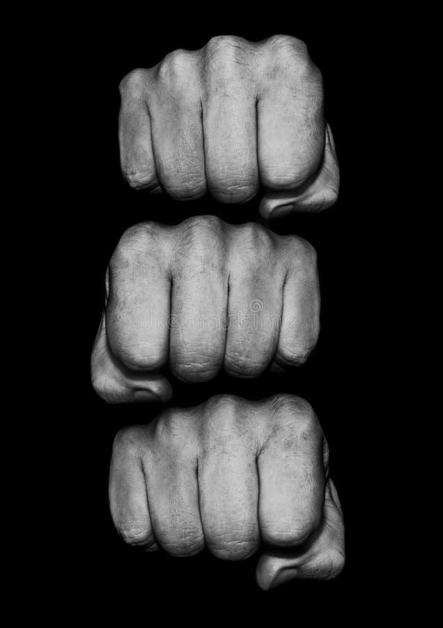 Куча кулака стоковая фотография