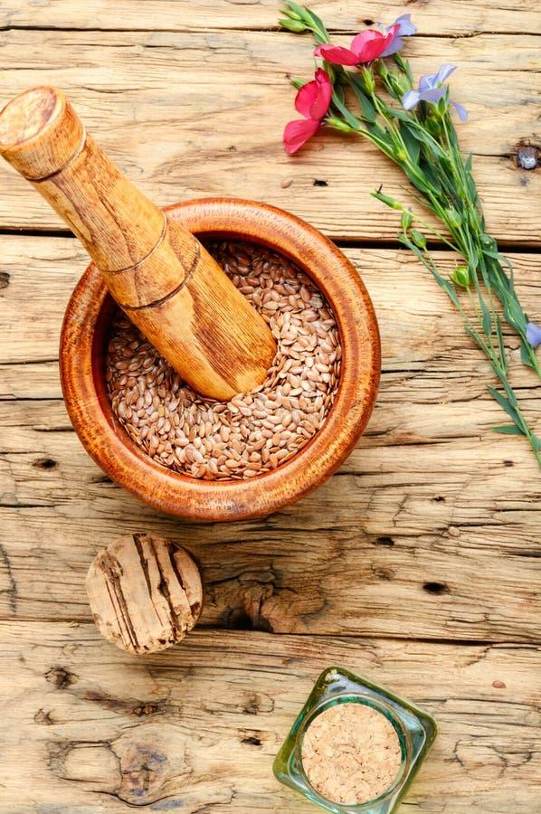 Куча льняных семян стоковые фотографии rf