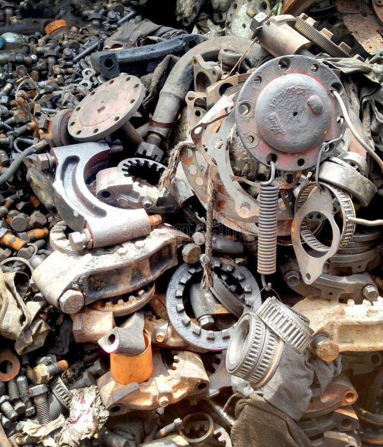 Куча металлолома, обмылок железной текстуры стоковые изображения rf