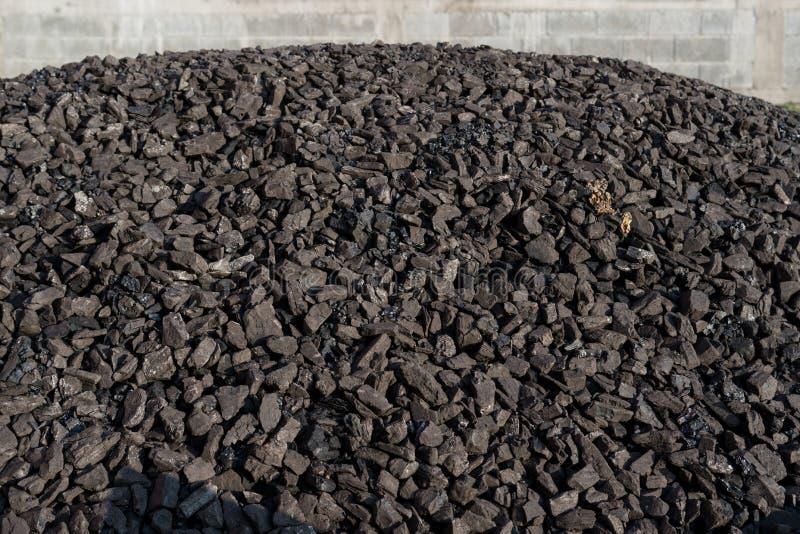 Куча минерала угля минирование стоковое фото