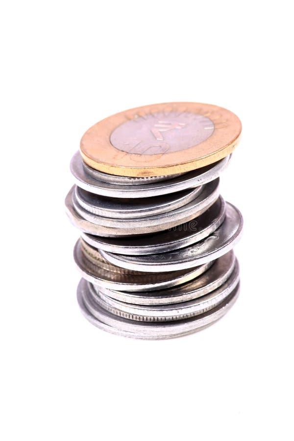Куча монетки стоковая фотография rf