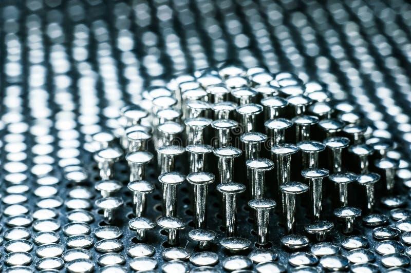 Куча ногтей металла стоковая фотография rf