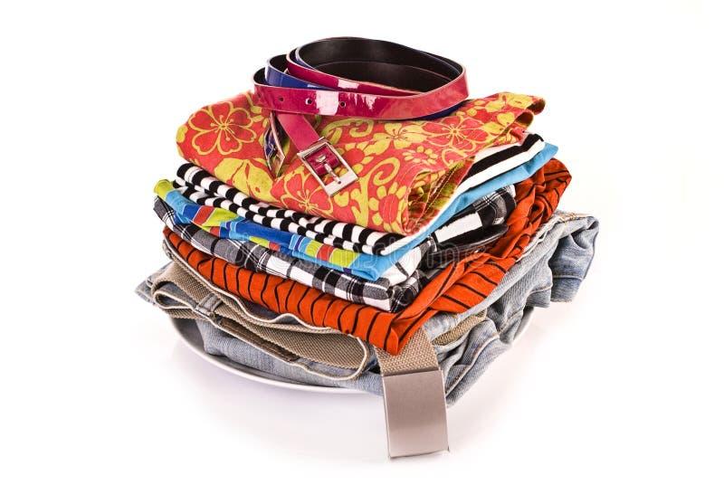 куча одежд стоковые изображения rf