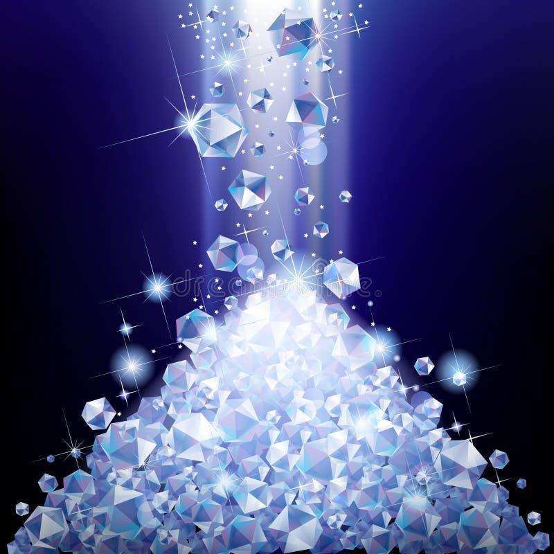 Куча падая диамантов бесплатная иллюстрация