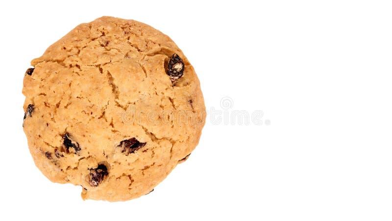 Куча печений обломока шоколада изолированных на белой предпосылке скопируйте космос, шаблон стоковые изображения rf