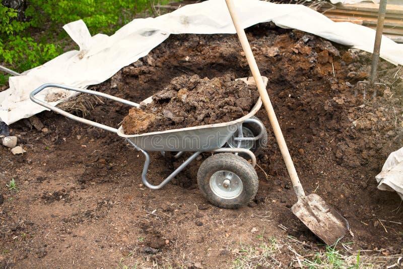Куча позема, почвы стоковое фото rf